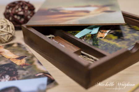 Horse photography wooden treasure box of photograph prints