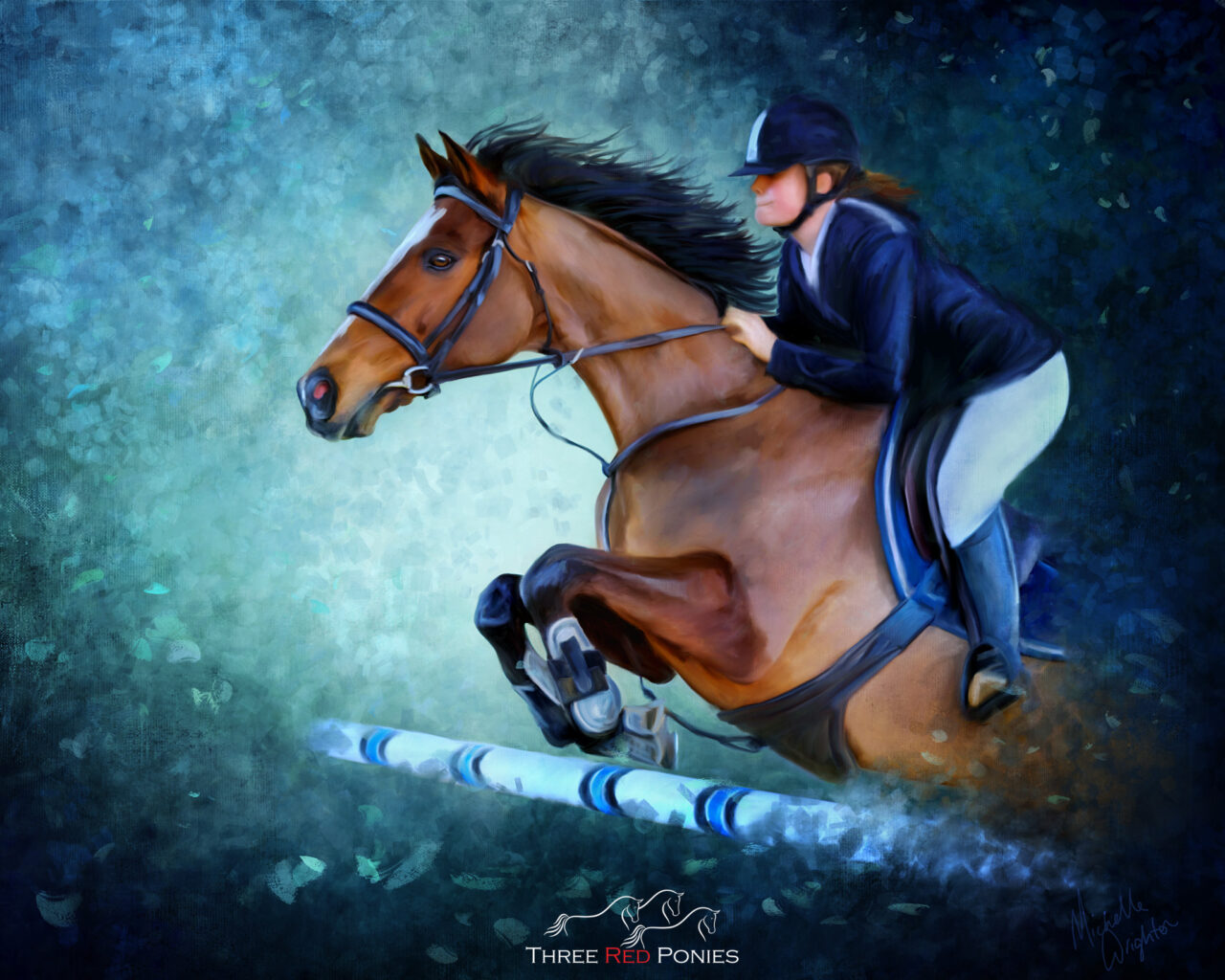 Painting Bay Show Jumping