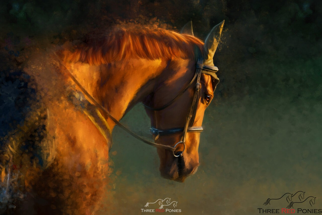 Custom horse and pet painting from your photo