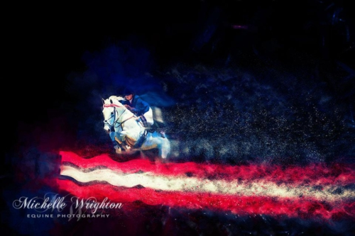 Artistic photo editing  mungrup stud classic showjumping